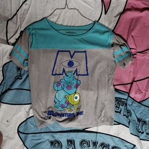 Juinors Monsters inc crop top
